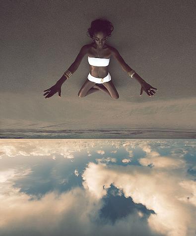 Sky, Sand & Girl